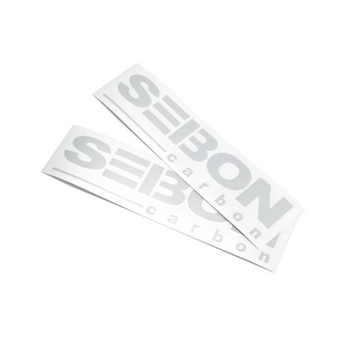 SEIBON CARBON商标贴纸 - 光银反光