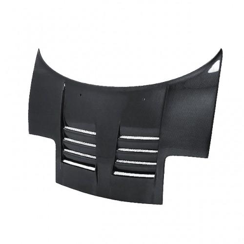 TT-style carbon fiber hood for 1992-2001 Acura NSX (straight weave)
