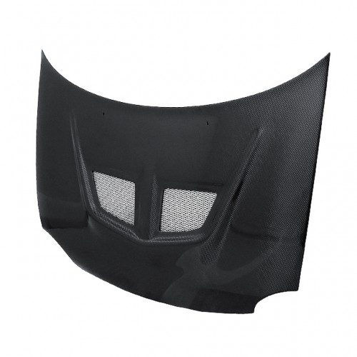 EVO-style carbon fiber hood for 1994-1999 Dodge Neon (straight weave)