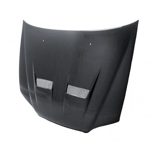 XT-style carbon fiber hood for 1998-2002 Honda Accord 4DR (straight weave)