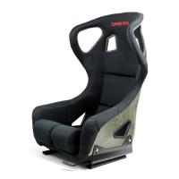 碳纤凯芙拉赛车座椅 - 黑(带耳朵)