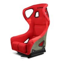 碳纤凯芙拉赛车座椅 - 红(带耳朵)