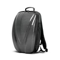 碳纤维硬壳双肩背包 - 黑色