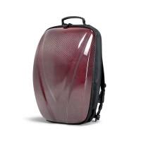 碳纤维硬壳双肩背包 - 红色