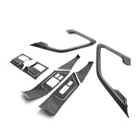 Carbon fiber interior door trim set (12 pcs) for 2009-2014 Nissan GTR