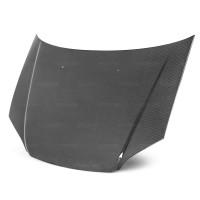 2001-2003年本田思域的OEM款式直纹碳纤维发动机盖 (无车标款)