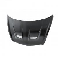 DV-style carbon fiber hood for 2007-2008 Honda Fit (straight weave)